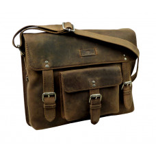 Premium Leather Messenger Bag ''Old Timer''