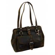 Casual Leather Bag ''Love Shopping''