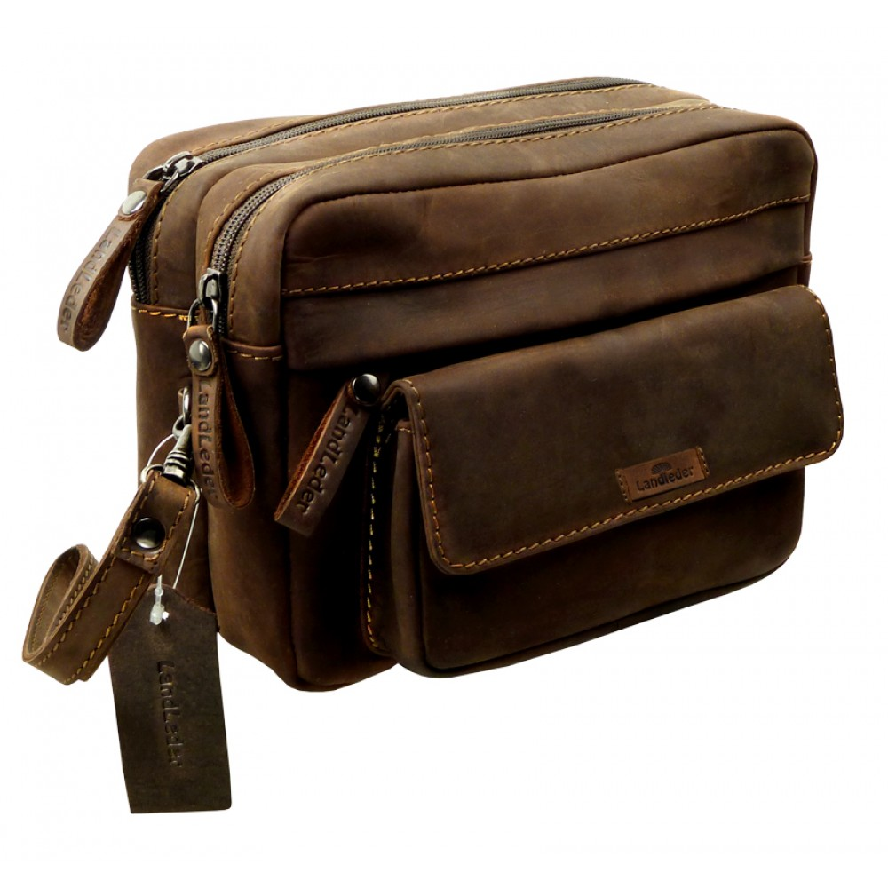 Raw Leather All Rounder Pouch Bag