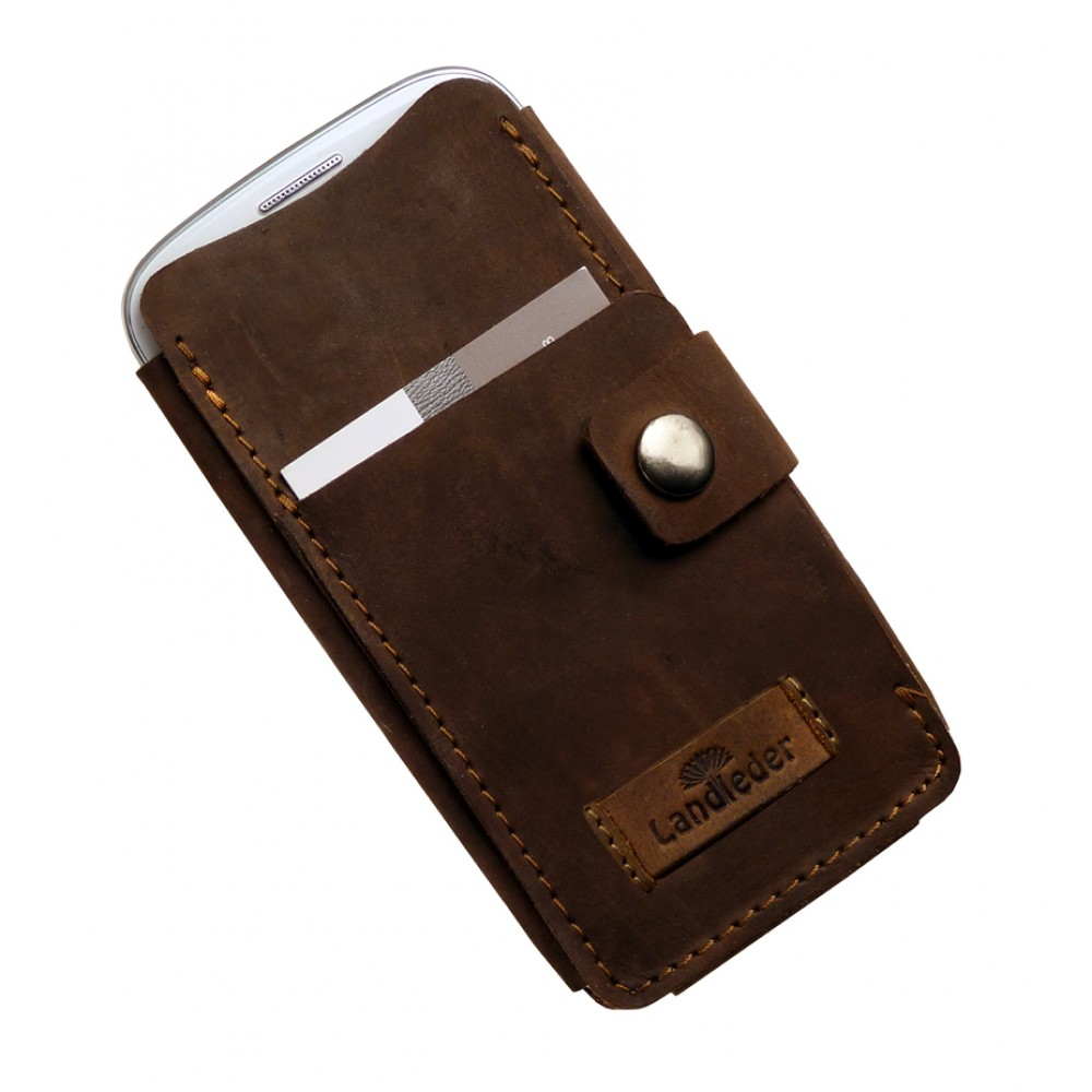 Leather Cell Phone Etui ''Old Timer'' Series