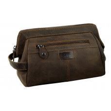 Handmade Leather Toilet Bag ''Wild & Vintage''