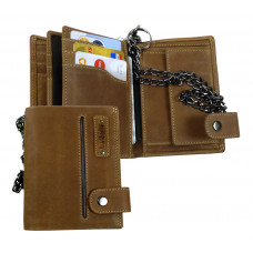 Handmade Premium Multi Wallet with massive Chain from Cadenza Series