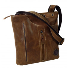 Handmade Leather Flat Cross Bag from Cadenza Series