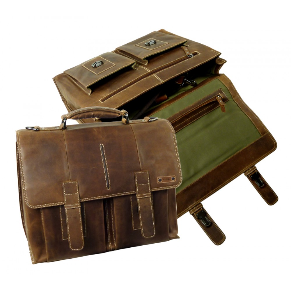 Handmade Leather Business Bag from Cadenza Series