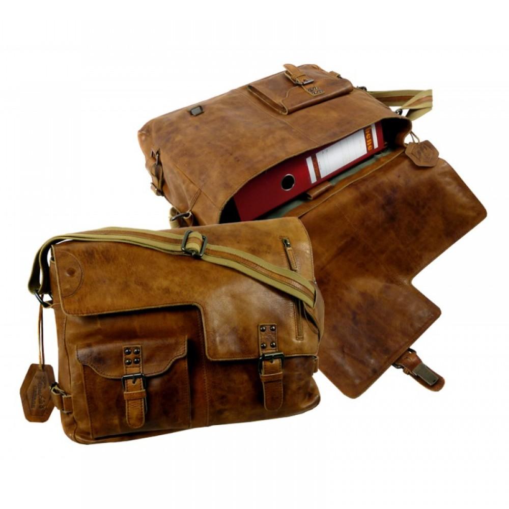 Handmade Premium Vintage Messenger Bag ''Premio'' Series