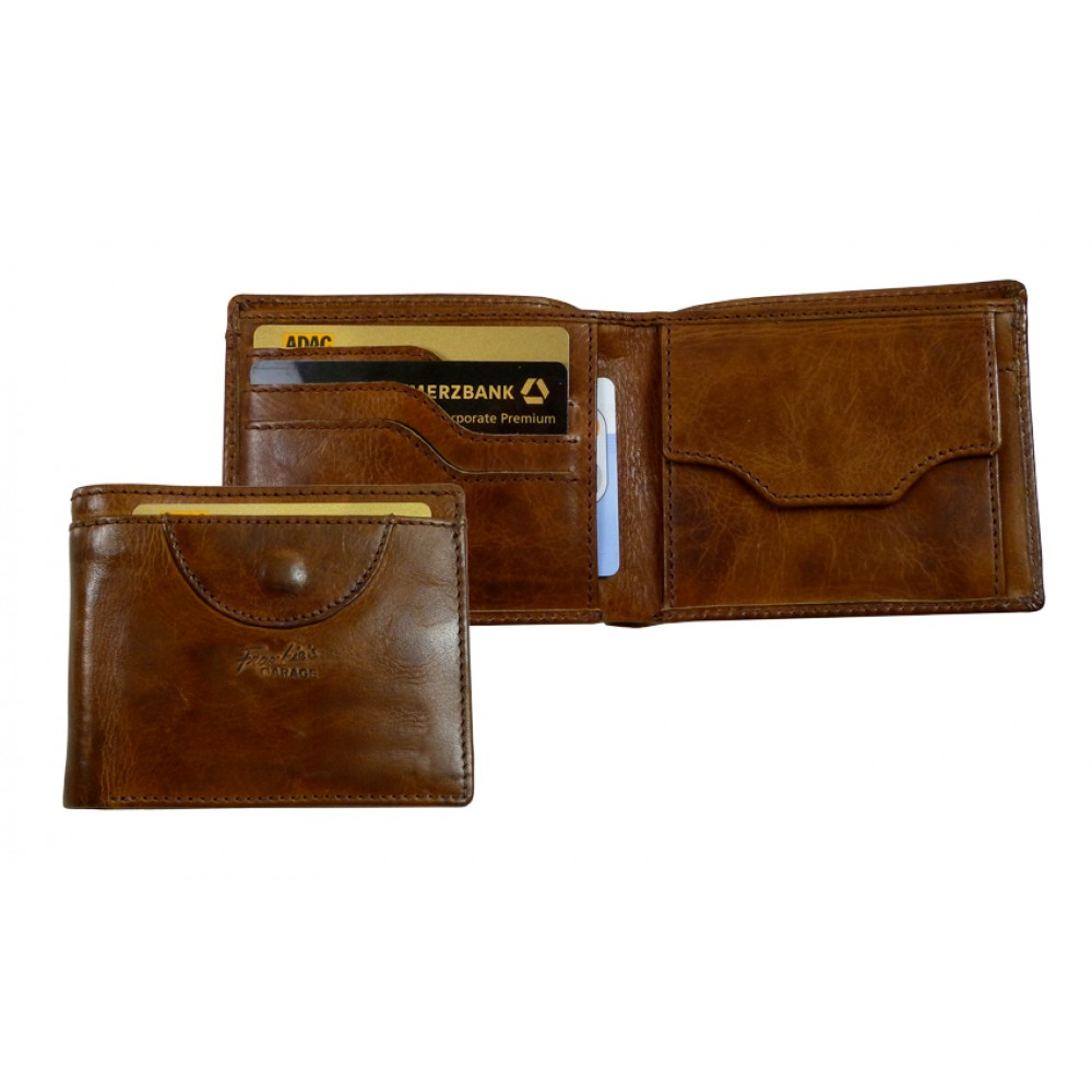 Handmade Thin & Flate Vintage Leather Wallet ''Premio'' Series