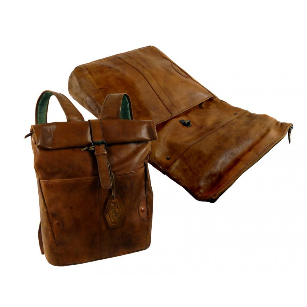 Handmade Leather Roller Backpack ''Premio Series''
