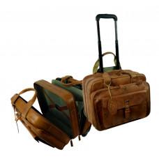 Leather Business Bag / Pilot Bag / Trolley Bag Handmade ''Premio'' Series