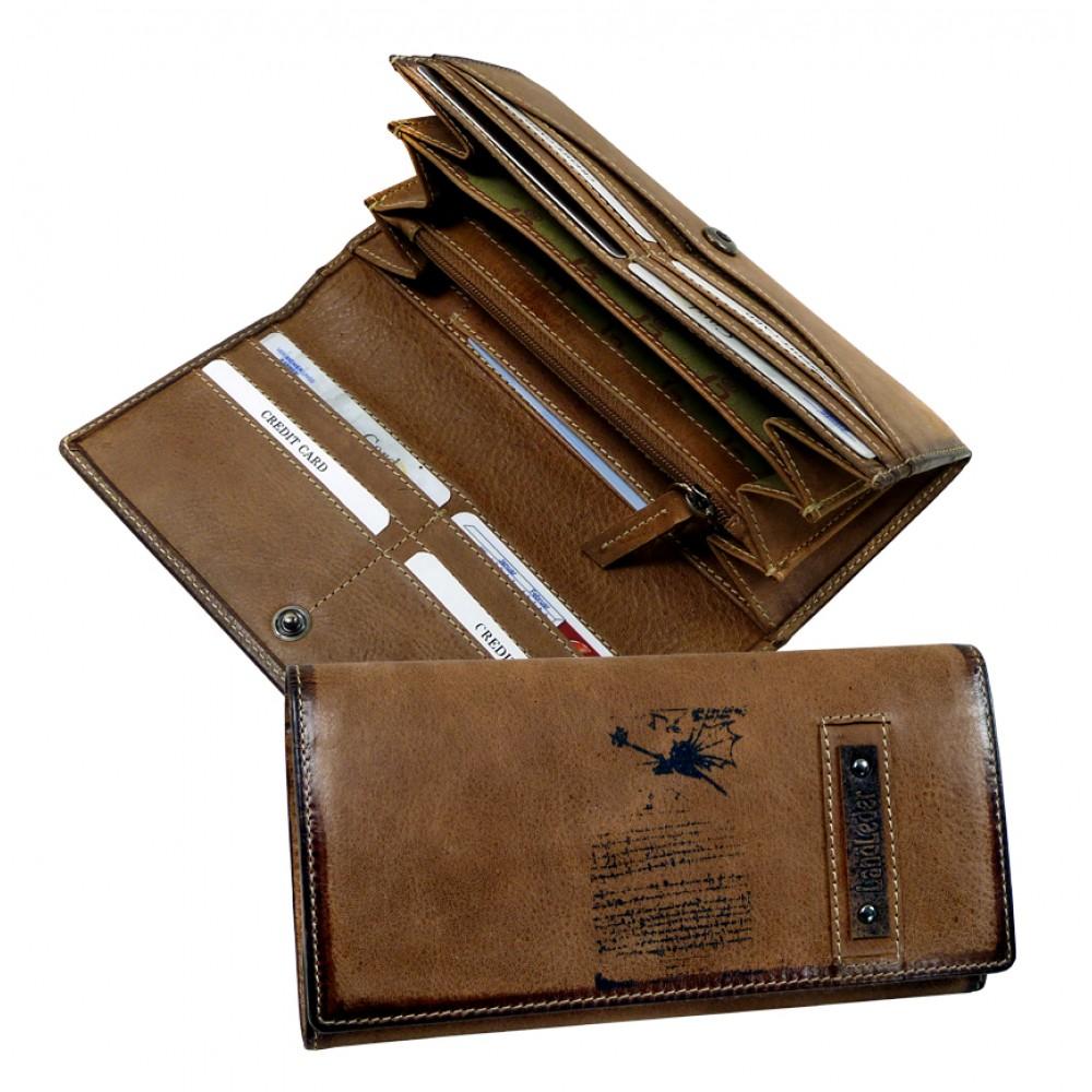 Handmade Leather Wallet ''DA VINCI'''