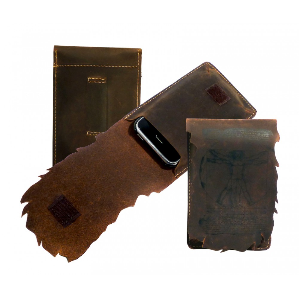 Premium Leather Cell Phone Etui ''Wild & Vintage''