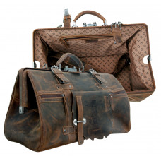 Premium Leather Doc Bag / Travel Bag ''Wild & Vintage''