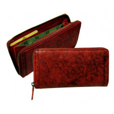 Handmade Rugged Leather Wallet Vintage Look