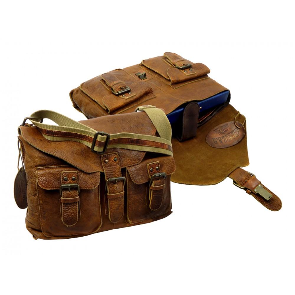 Handmade Rugged Leather Casual Bag ''Unisex''