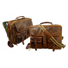 Handmade Business Leather Bag with True Vintage Look ''Unisex''