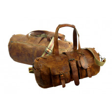 Handmade Rugged Leather Sports Bag /Weekender ''Unisex''