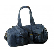 Handmade Casual Leather Sports Bag / Travel Bag ''Weekender''