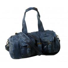 Handmade Casual Leather Sports Bag / Travel Bag ''Weekender''
