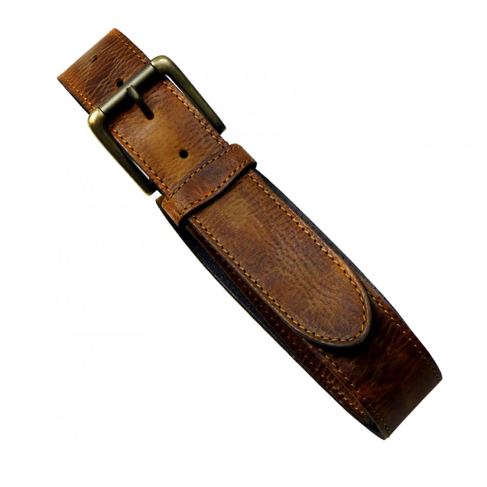 Leather Belt Vintage Brown