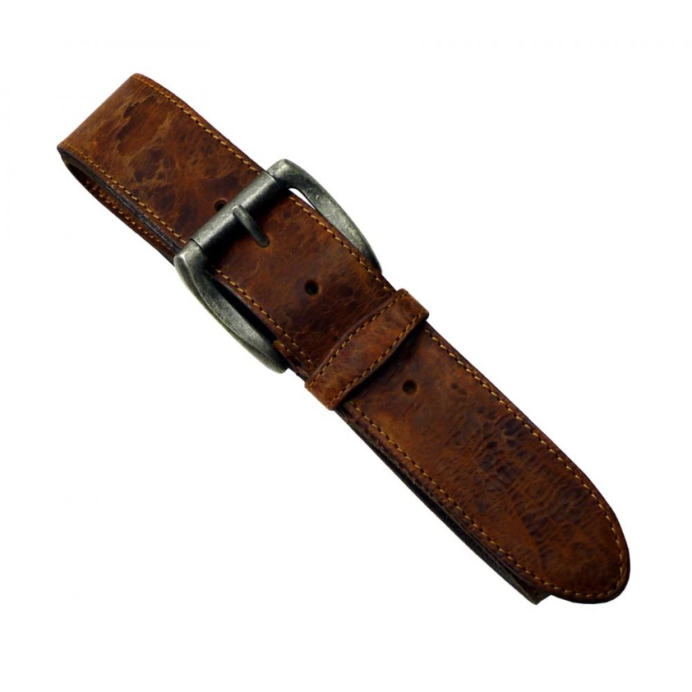 Leather Belt Vintage Brown ''Cowboy Series''