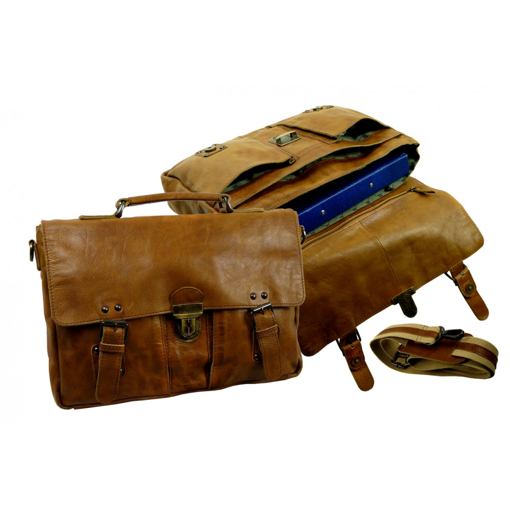 Handmade Cowboy Styled Casual Leather Bag