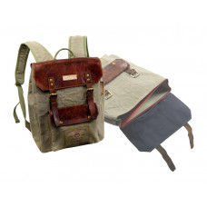 Casual Backpack Leather Cavas