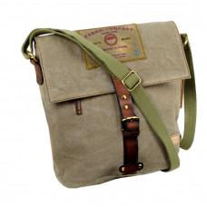 Casual Messenger Bag Leather Cavas