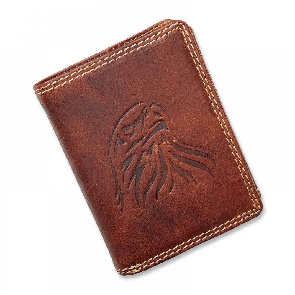 Handmade Leather Wallet Wild & Vintage White Eagle Series