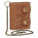 Handmade Leather Wallet with chain Wild & Vintage in 3 Colors