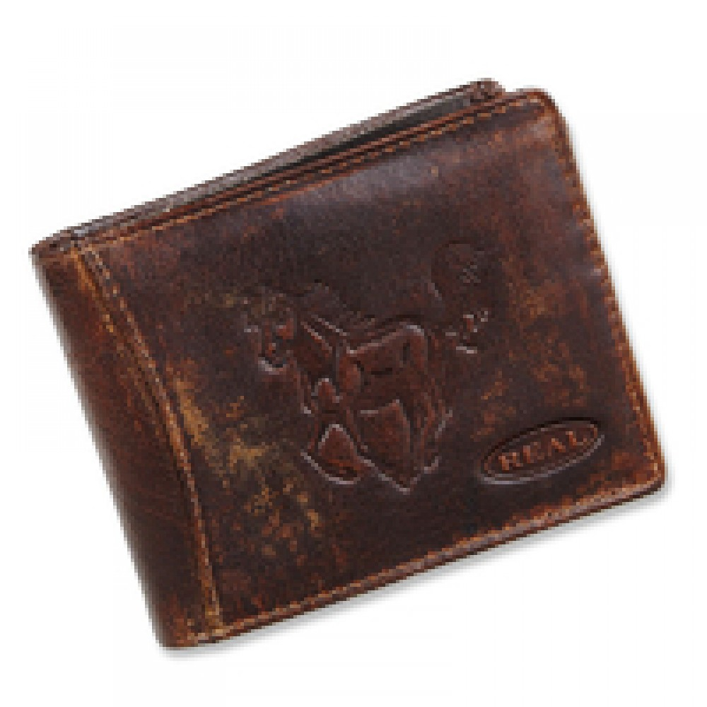 Handmade Leather Wallet Wild & Vintage Cowboy Series
