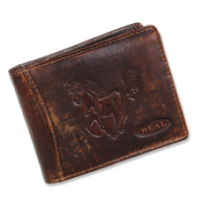 Handmade Leather Wallet Wild & Vintage Cowboy Series