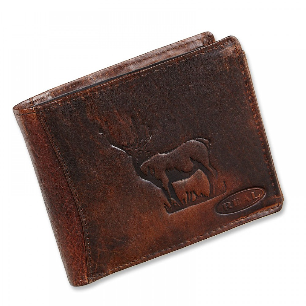 Handmade Leather Wallet Wild & Vintage Deer Series