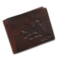 Handmade Leather Wallet Wild & Vintage Lion Series