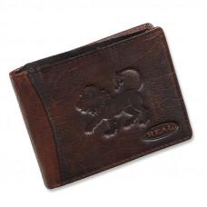 Handmade Leather Wallet Wild & Vintage Lion Series