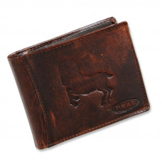 Handmade Leather Wallet Wild & Vintage Capricorn Series
