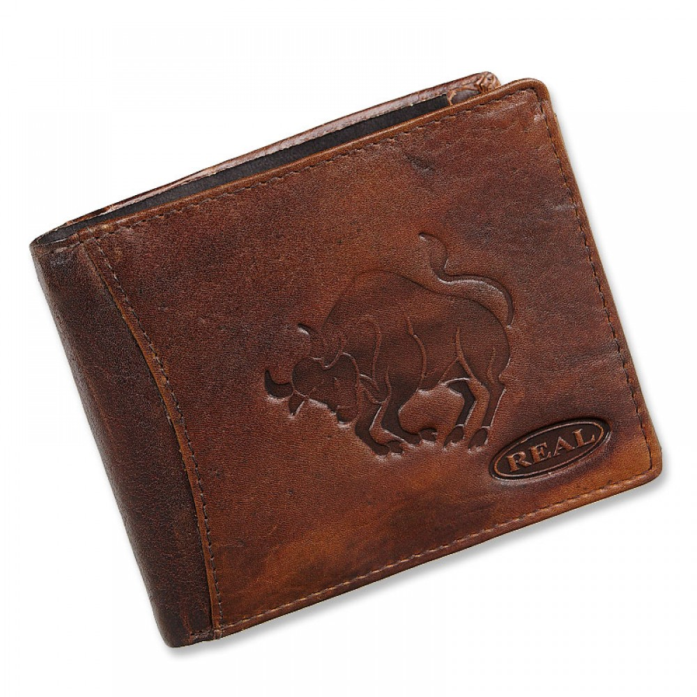 Handmade Leather Wallet Wild & Vintage Taurus  Series