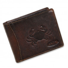 Handmade Leather Wallet Wild & Vintage Cancer Series