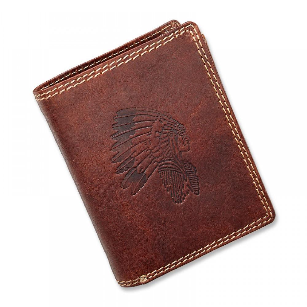 Handmade Leather Wallet Wild & Vintage Indiana Series