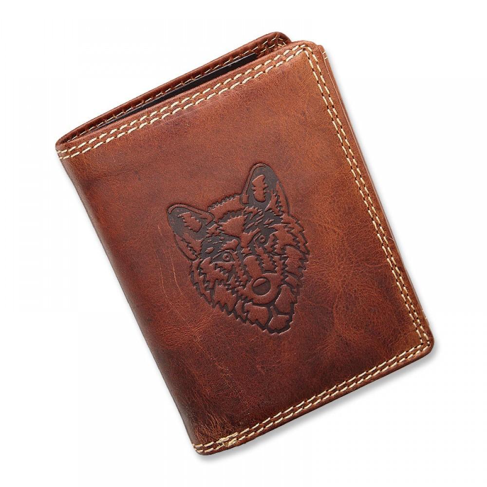 Handmade Leather Wallet Wild & Vintage Husky Series