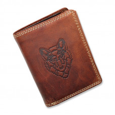 Handmade Leather Wallet Wild & Vintage Husky Series
