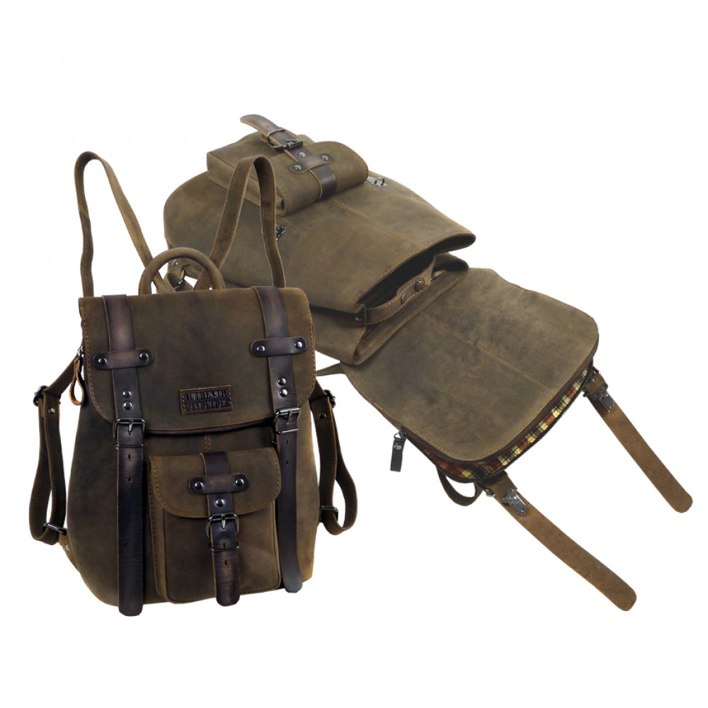Handmade Leather Backpack ''Unisex''