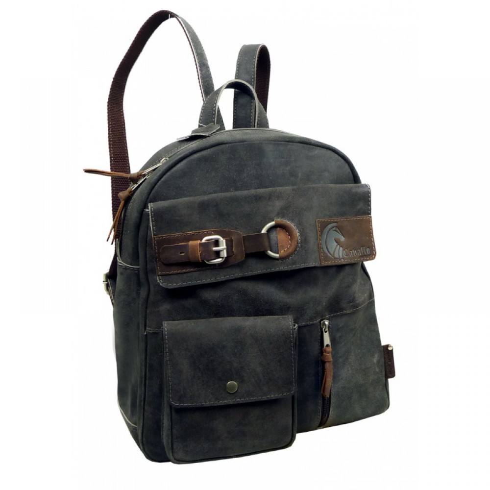 Raw Leather Casual Backpack ''Unisex''