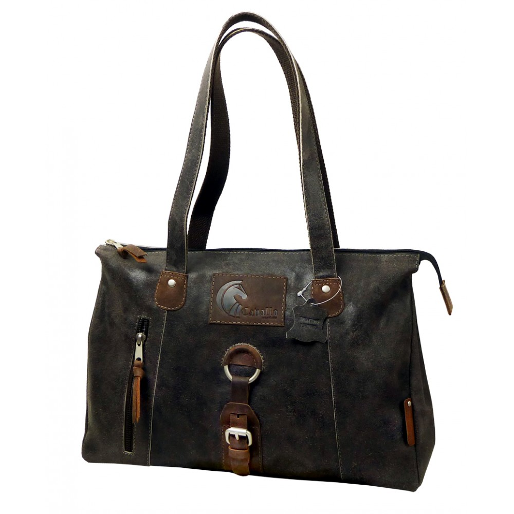 Raw Leather Casual Bag ''Urban Spirit''