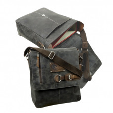 Raw Leather Messenger Bag ''Sandes''