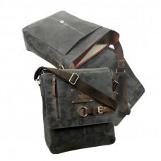 Raw Leather Messenger Bag ''Sandes''