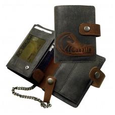 Raw Leather Wallet ''Naveena''