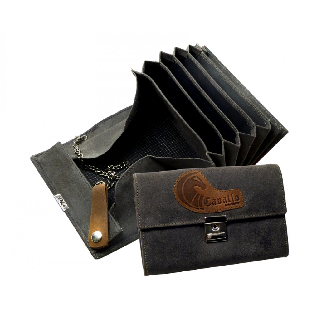 Raw Leather Waiter´s Wallet