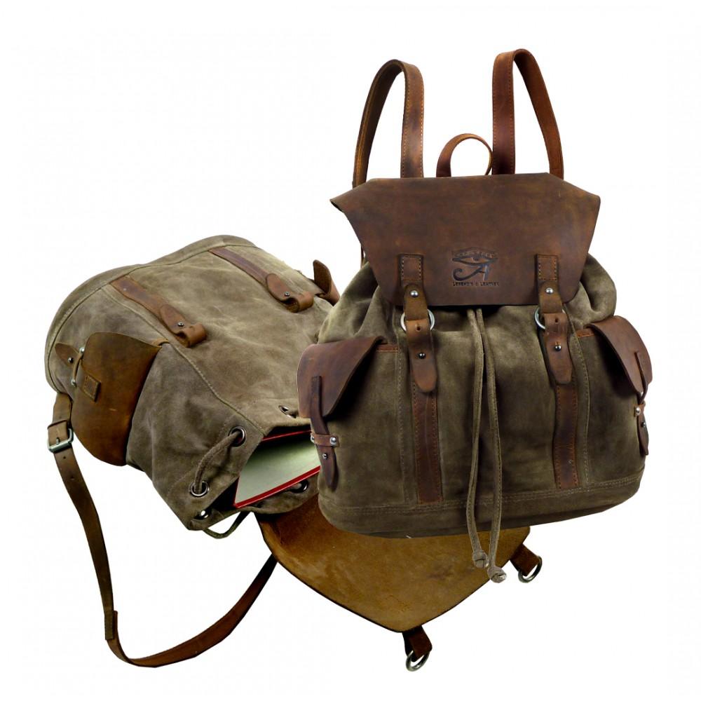Handmade Leather Bag Roam Around ''Unisex''