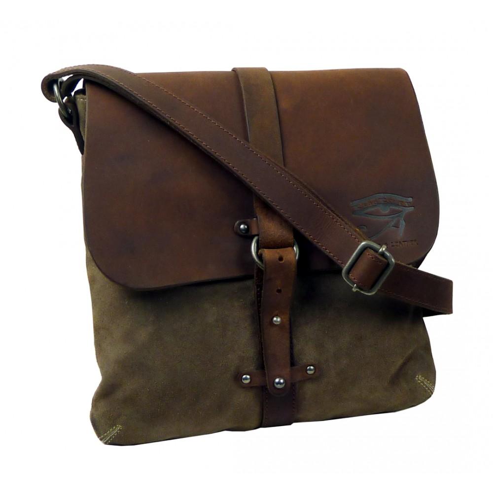 Handmade Raw Leather Bag ''Casual Walk''