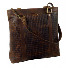 Casual Woven Leather Bag ''Shopping Queen''