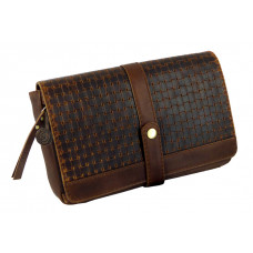 Handmade Woven Leather Clutch Bag / Wallet